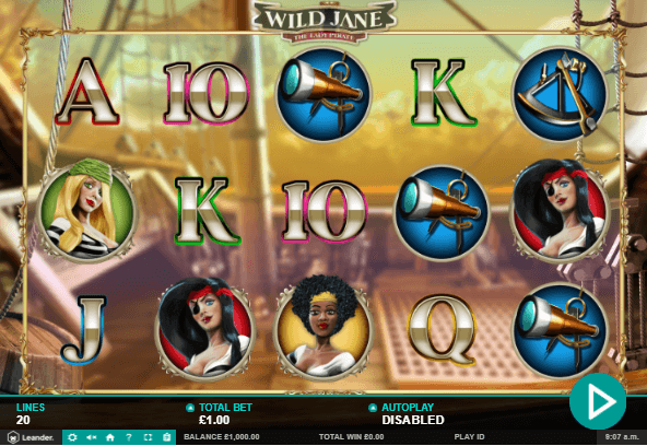 Wild Jane The Lady Pirate Slot