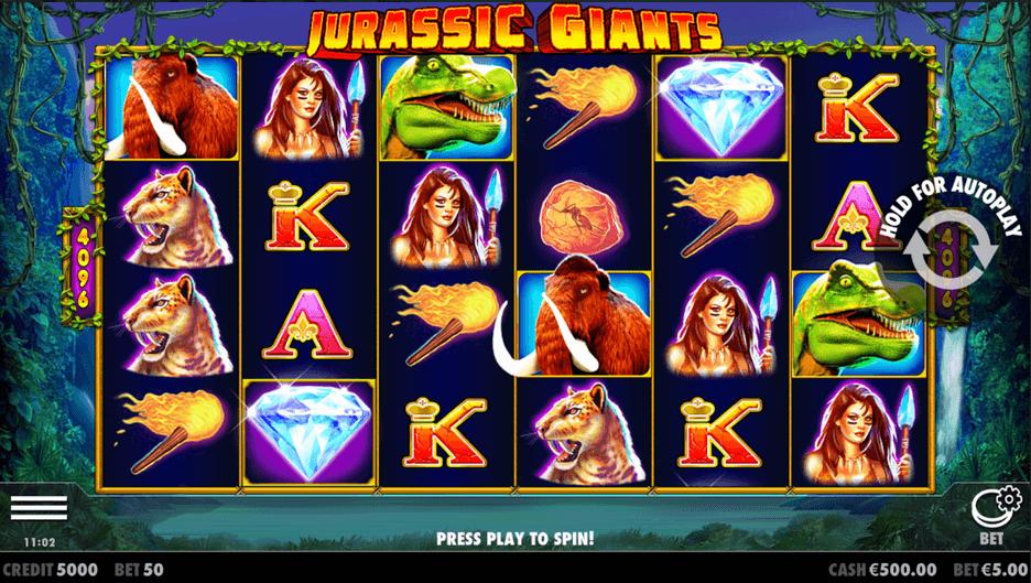 Jurassic Giants Slot mobil