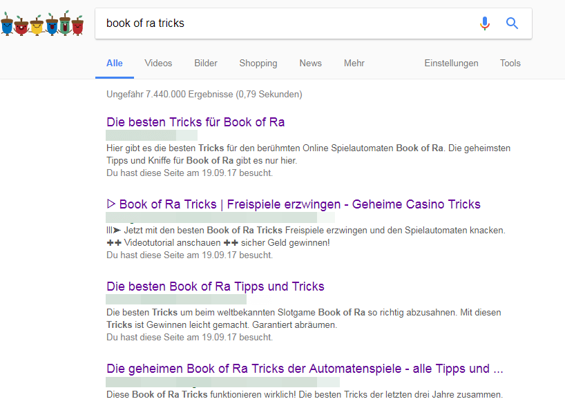 tricks bei book of ra automaten
