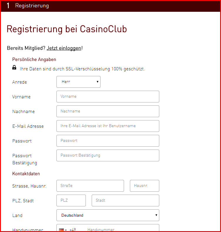 casinoclub anmeldung