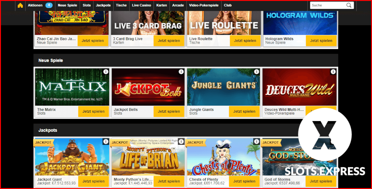 Betfair Casino Jackpot