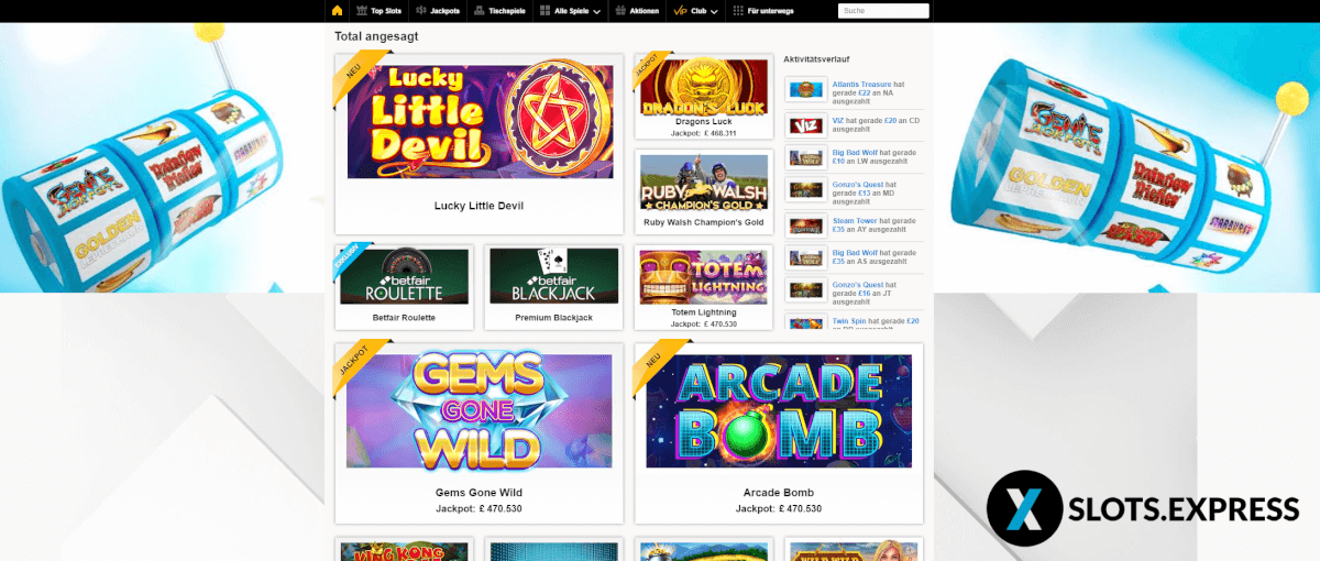 betfair casino arcade