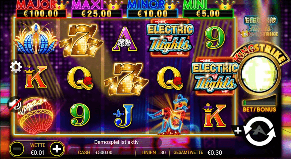 Electric Nights Slot mobil