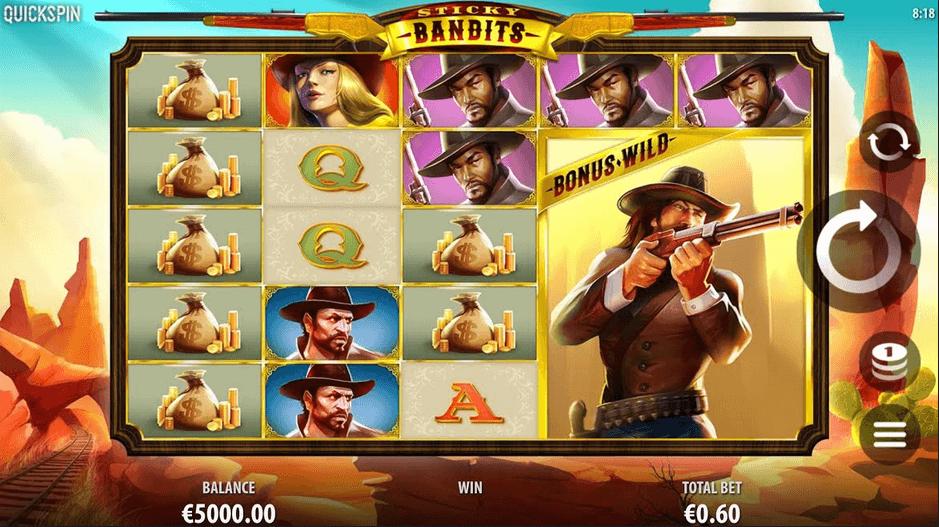 Sticky Bandits Slot mobil