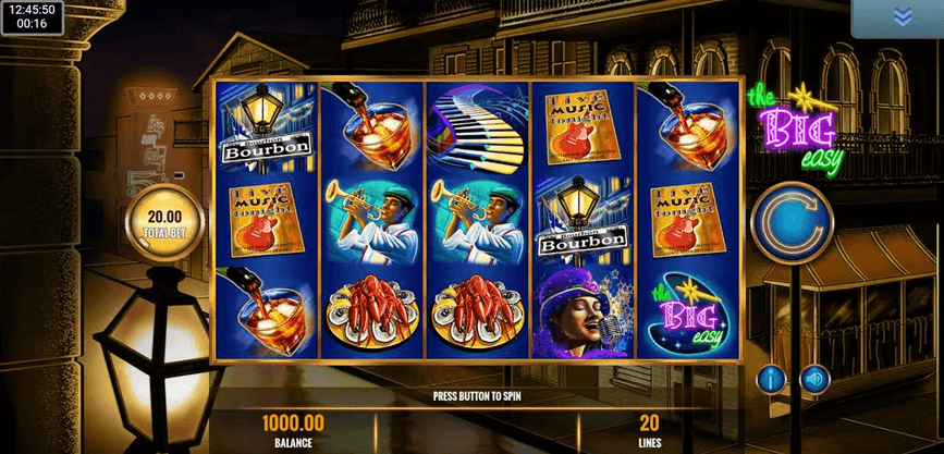 The Big Easy Slot mobil