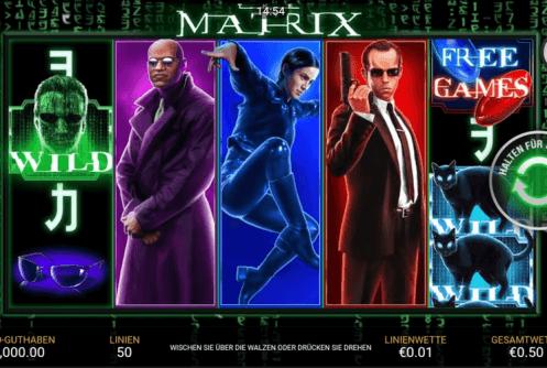 The Matrix Playtech Spielautomat