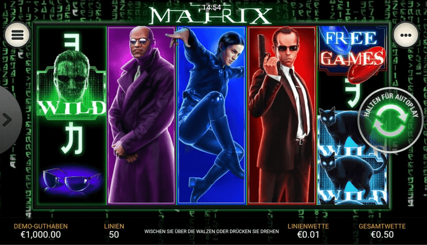 The Matrix Playtech Spielautomat