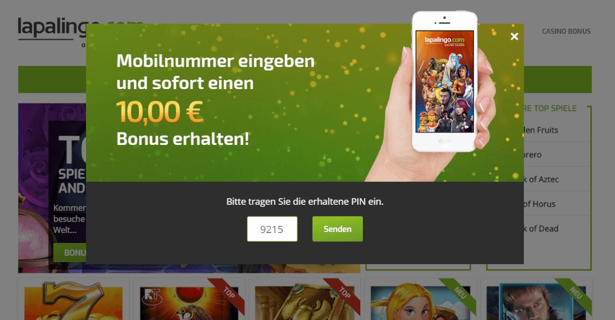 Lapalingo 10 Euro gratis