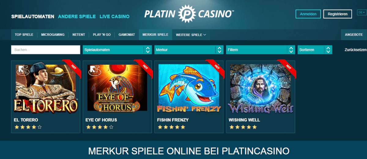 Merkur Spiele Platincasino