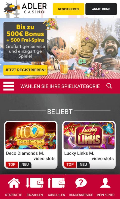 mobiles Adler Casino
