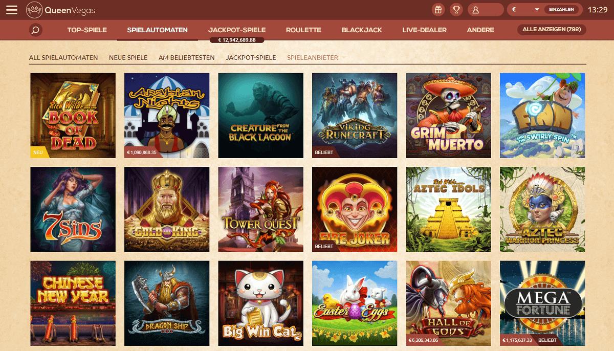 QueenVegas Casino Spiele