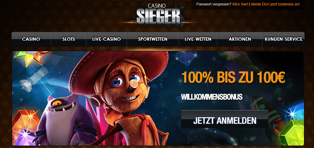 casinosieger bonus 100