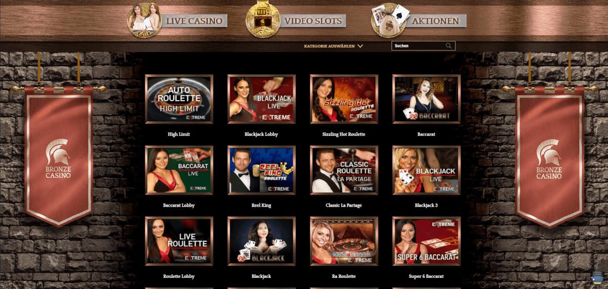 Bronze Live Casino