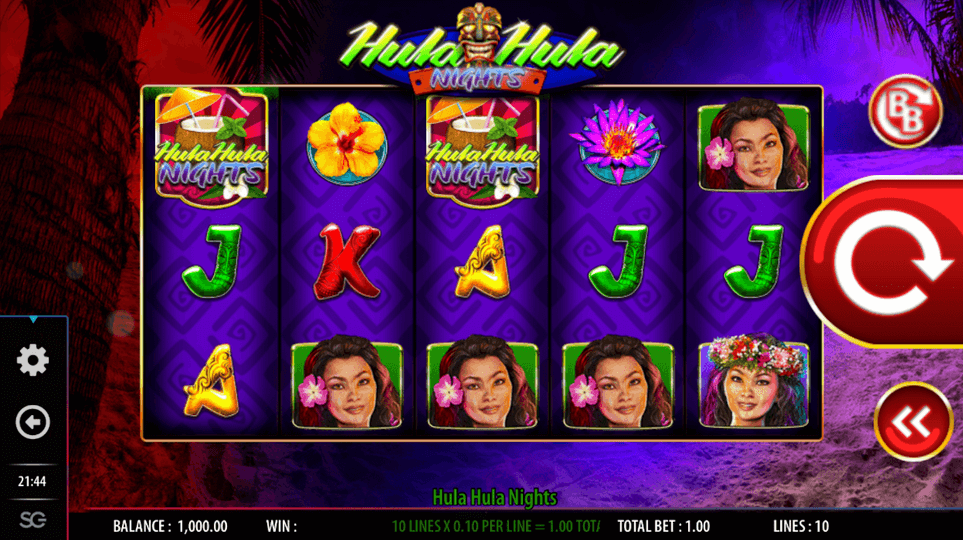Hula Hula Nights Slot mobil