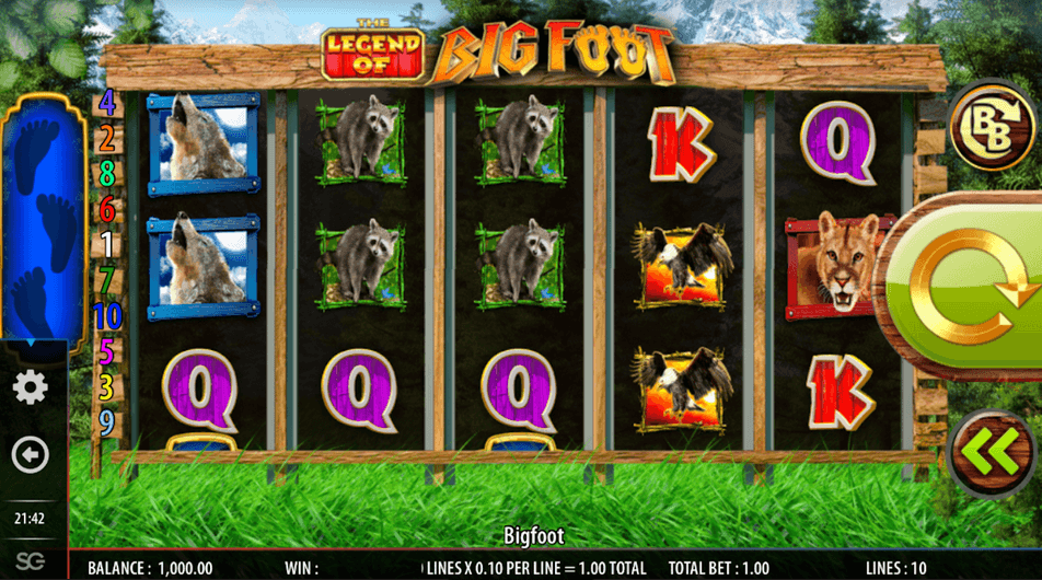 The Legend of Big Foot Slot mobil