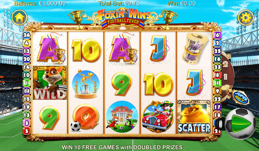 Foxin' Wins Football Fever Slot mobil