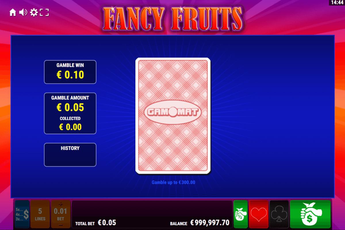 Gamomat-Fancy-Kartenrisiko