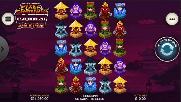 Pixel Samurai Slot mobil