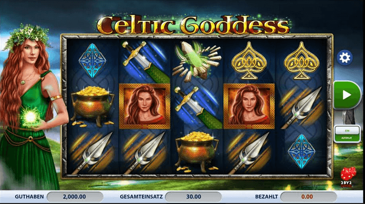 Celtic Goddess Slot Mobil