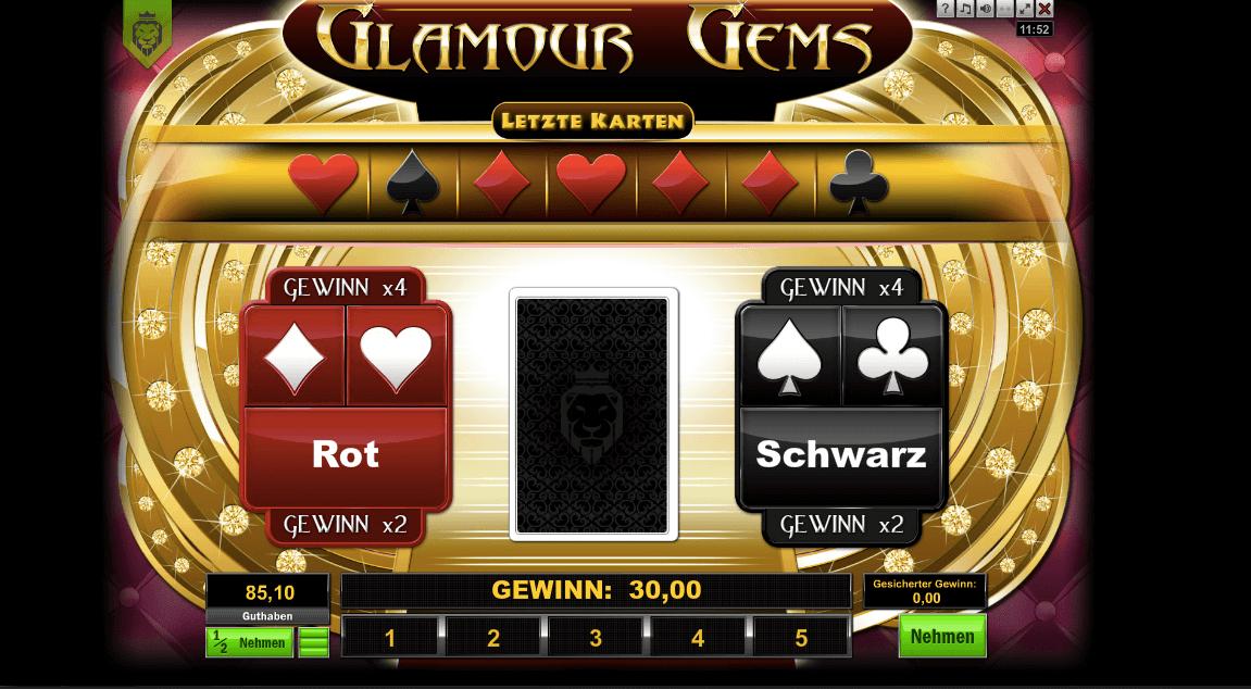 Glamour Gems Risikospiel