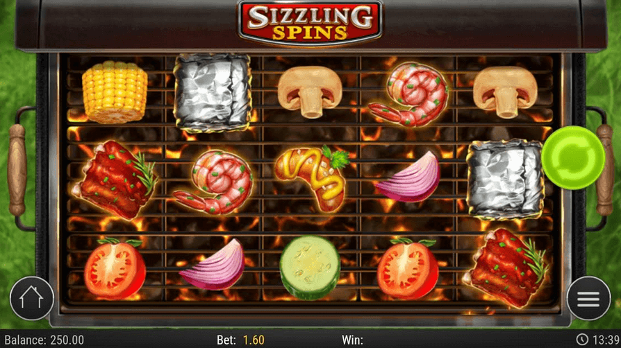 Sizzling Spins slot Mobil