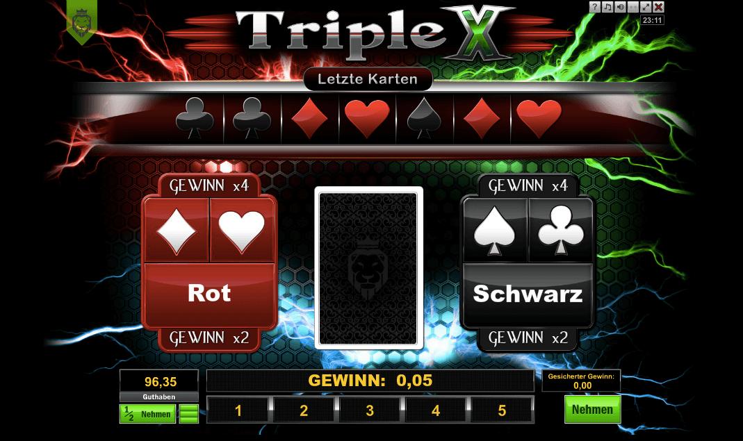 Triple X Risikospiel Kartenrisiko