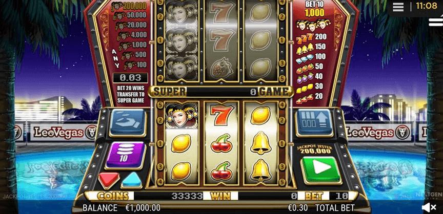 Jackpot Jester 200000 mobil