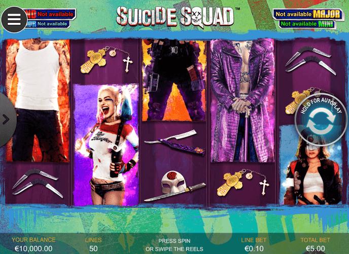 Suicide Squad Slot Mobil