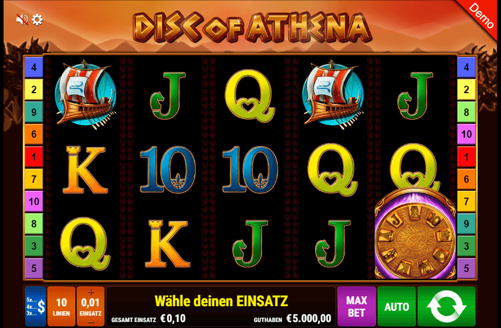 Disc of Athena Spielautomat