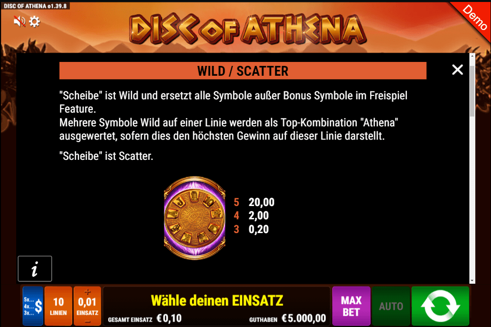 Disc of Athena Gamomat