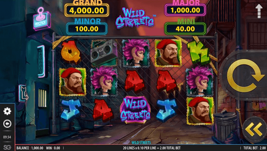 Wild Streets Slot mobil