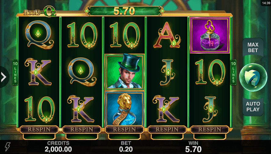 Book of Oz Slot Mobil