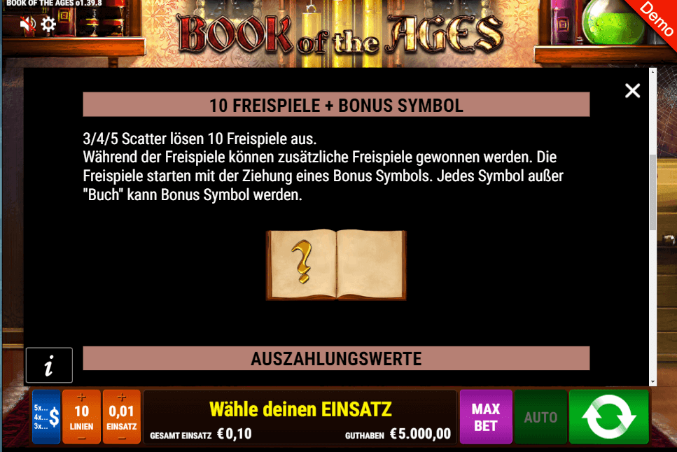 Book of Ages Freispiele