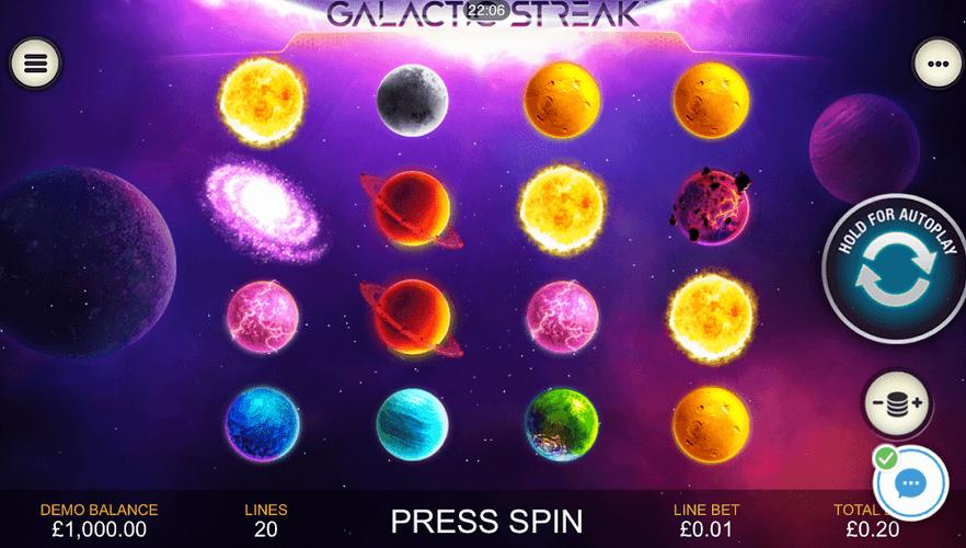 Galactic Streak Slot Mobil