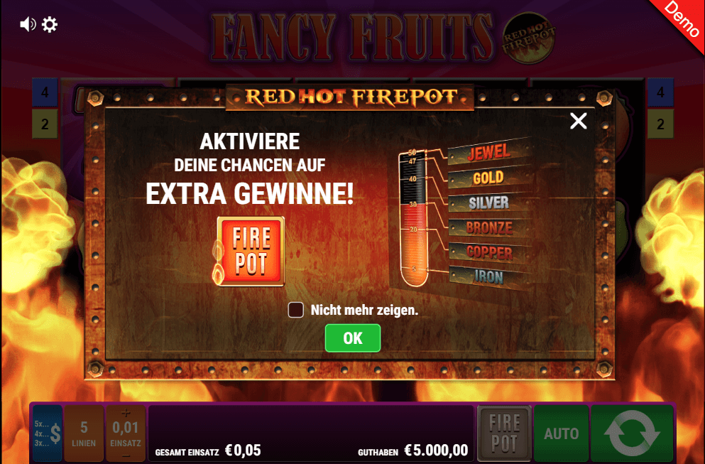 Gamomat Fancy Fruits Jackpot