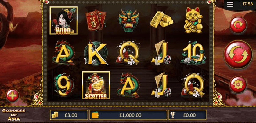 Goddess of Asia Slot mobil