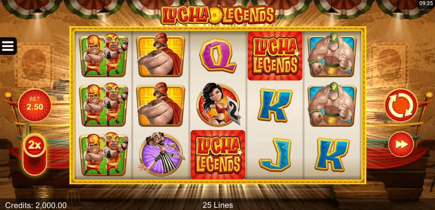 Lucha Legends Slot Mobil