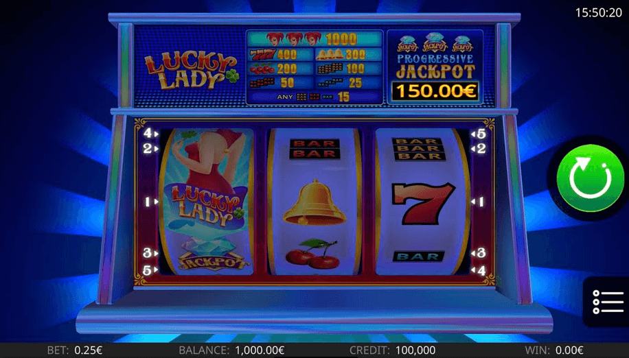 Lucky Lady Slot mobil
