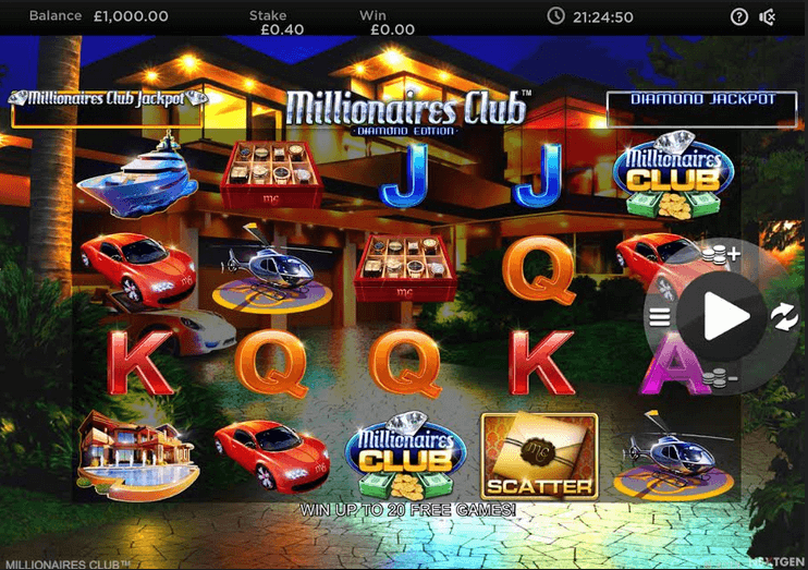 Millionaires Club: Diamond Edition Slot mobil