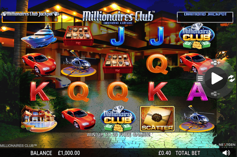 Millionaires Club: Diamond Edition Slot