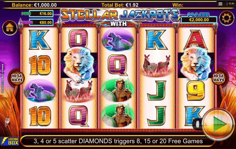 Stellar Jackpots with Sivler Lion Slot Mobil