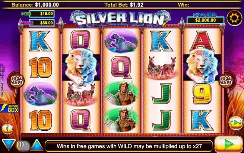 Stellar Jackpots with Sivler Lion Slot