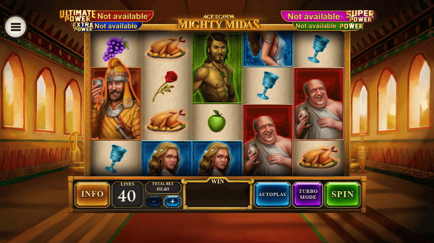 Age of the Gods: Mighty Midas Slot mobil
