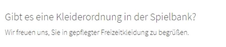 Spielbank Osnabrück Kleiderordnung