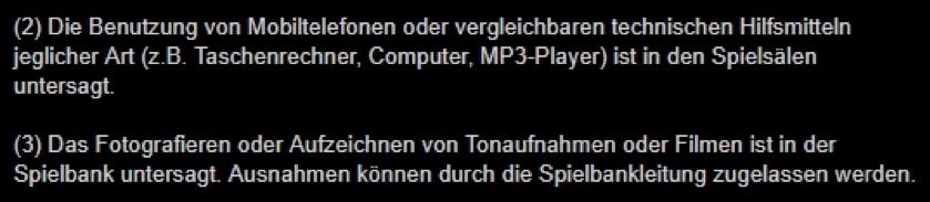 Etikette Spielbank Aachen