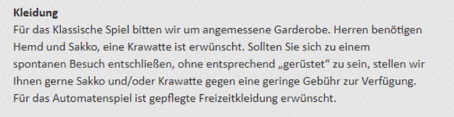 Spielbank Baden Baden Kleiderordnung