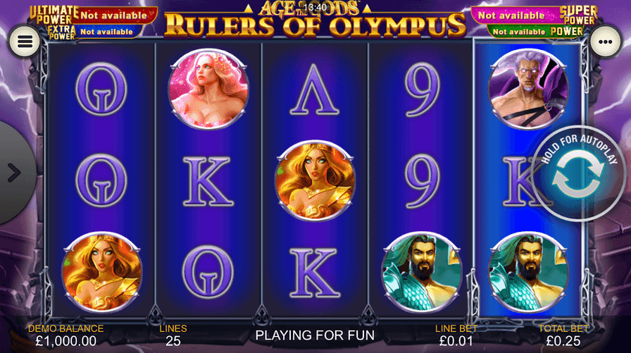 Age of The Gold Rulers of Olympus Slot Mobil