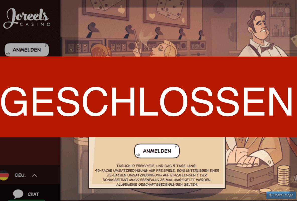 Joreels geschlossen - casino screenshot