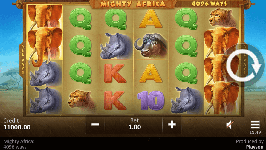 Mighty Africa 4096 Ways Slot Mobil
