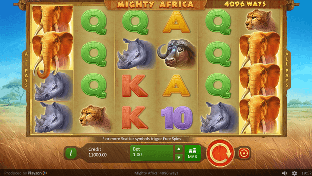 Mighty Africa 4096 Ways Slot
